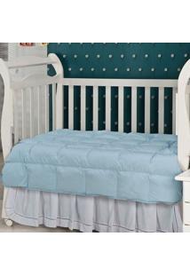 Edredom Fibra Siliconizada Em Flocos-Baby-120X140-Azul