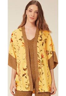 Kimono Estampado Em Crepe Deviscose
