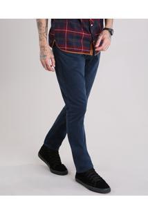 Calça Masculina Slim Azul Marinho