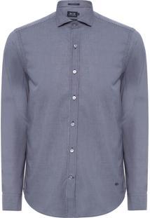 Camisa Masculina Xadrez – Azul