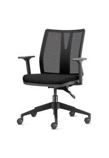 Cadeira Addit Assento Courissimo Preto Com Base Piramidal Em Nylon - 54119 Preto