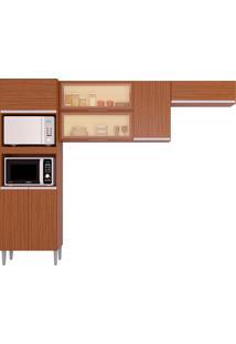 Cozinha Compacta 7 Portas E 1 Gaveta Aline-Poquema - Capuccino
