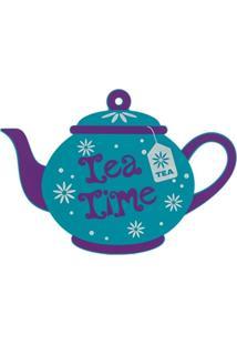 Descanso Mart P/ Panela Em Silicone Tea Time