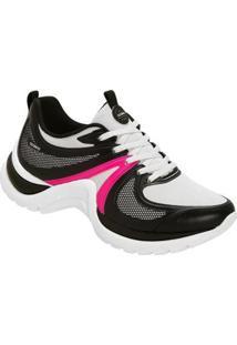 Tênis Azaleia Chunky Sneaker Sem Costura Feminino - Feminino-Preto+Pink