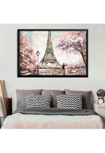 Quadro Love Decor Com Moldura Primavera Em Paris Preto Médio