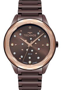 Relógio Technos Feminino Elegance Crystal 2036Mkj/4M