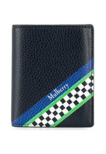 Mulberry Carteira Racing Com Listra - Azul