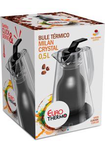 Bule Termico Milan Crystal 0,5L Preto Euro Home