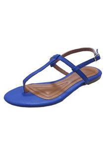 Sandália Maisapato Napa Azul