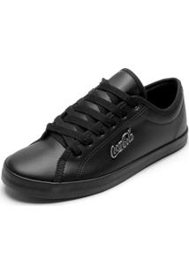 Sapatênis Coca Cola Shoes Marx Preto