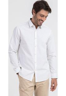 Camisa Manga Longa Comfort Estampada
