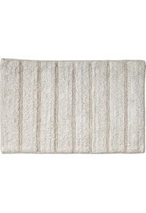 Tapete Para Banheiro Indiano Curacau 45X70Cm Cores Rozac Branco