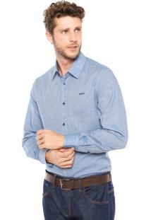 Camisa Sommer Bordado Azul