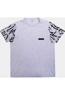 Camiseta All Free Estampada Plus Size Masculina - Masculino-Mescla Claro