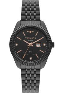 Relógio Technos Elegance Feminino 2015Ccv4P Preto
