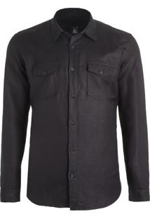 Camisa Masculina Louros - Preto
