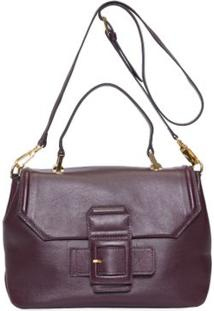 Bolsa Média Leather Buckle Animale - Vinho