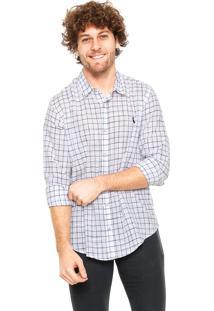 Camisa Reserva Regular Fit Quadriculada Branca/Preta