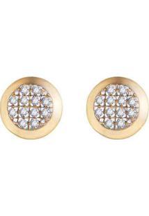 Brinco Pav㪠Ouro Amarelo Ouro Branco E Diamantes