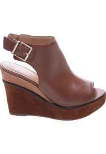 Sandal Boot Couro Fivela Savannah Nut Brown | Arezzo