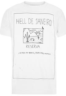 Camiseta Masculina Hell - Branco