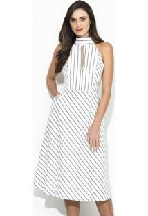Vestido Listra Alfaiataria Off White