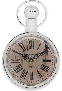 Relógio De Parede Paris Branco Oldway