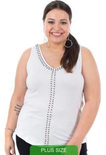 Blusa Com Bordado De Pérolas Branco Cativa Mais
