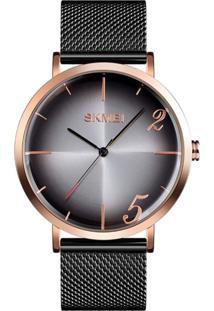 Relógio Skmei Analógico 9200 Preto E Rosê