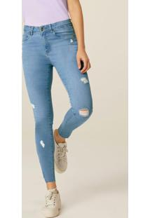 Calça Azul Claro Skinny Feminina Flex Jeans