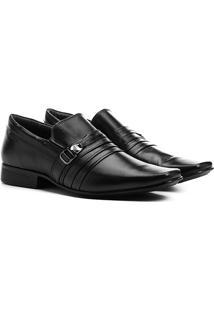 Sapato Social Couro Rafarillo Rafa System - Masculino-Preto