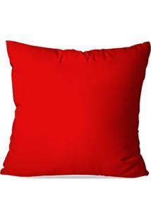 Capa De Almofada Avulsa Vermelho 45X45Cm