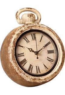 Relógio De Parede Decorativo Santos Dumont De Madeira Envelhecido