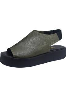 Sandália S2 Shoes Plataforma Verde Militar