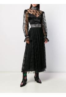 Christopher Kane Blusa Com Renda Floral - Preto