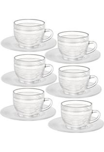 Conjunto De Xícaras De Chá Wheaton Cristal 6 Peças 200Ml