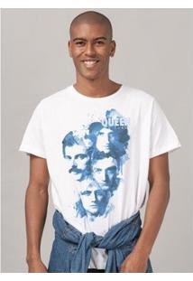 Camiseta Masculina Queen Blue Faces - Masculino