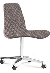 Cadeira Eames Loft Cinza E Laranja