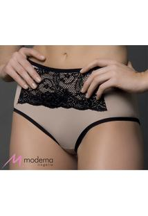 Calça Alta Moderna Comfort Renda (3096) Leve Sustentação, Nude, P