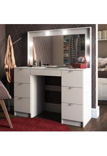 Penteadeira Camarim Roma Com Espelho Branco - Pnr Móveis