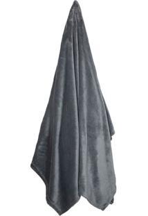 Cobertor Velour King Size- Chumbo- 240X260Cm- 30Camesa