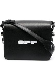 Off-White Bolsa Transversal Com Estampa Off - Preto