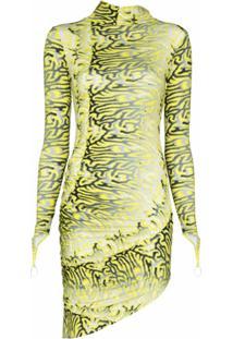 Maisie Wilen Vestido Acinturado Orbit City - Amarelo