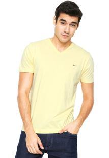 Camiseta Aramis Regular Fit Lisa Amarela