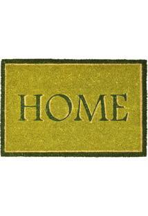 Capacho Retangular 61X40Cm Home Verde Claro E Verde Escuro Espressione 407-024