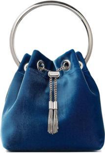 Jimmy Choo Bolsa Tote Bon Bon Com Detalhe De Tassel - Azul