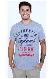 Camiseta Masculina Estampa Inglaterra Manga Curta Marisa