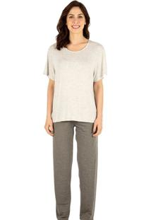 Pijama Longo Homewear Mescla | 589.074
