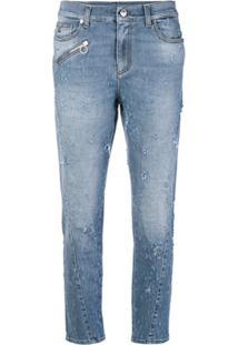 Versace Jeans Couture Calça Jeans Desgastada - Azul