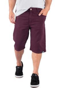 Bermuda Alfa Sarja Purple - Masculino